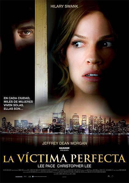 "Hilary Swank protagoniza ""La víctima perfecta"". Cartel - póster"