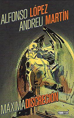 """Portada del cómic """"Máxima discreción"""" basada en la escultura funeraria """"El beso de la muerte"""""""