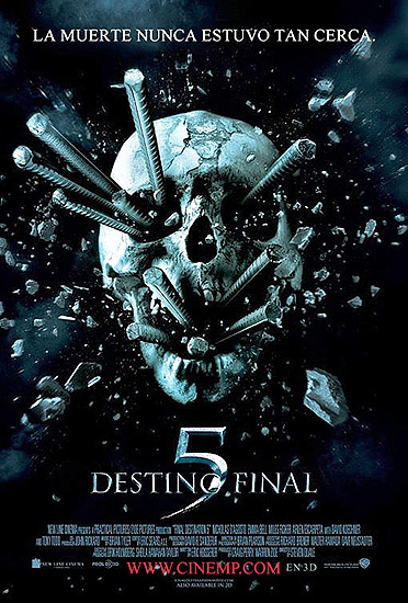 """Destino final 5"" póster cartel en castellano"