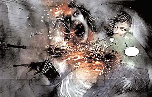 """Imagen del cómic """"30 días de noche"""" por Niles y Templesmith"""