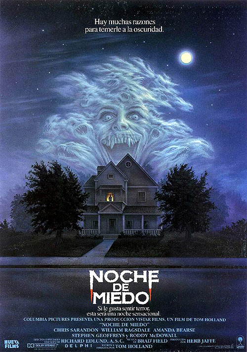 """Cartel del pequeño clásico de los ochenta """"Noche de miedo"""""""