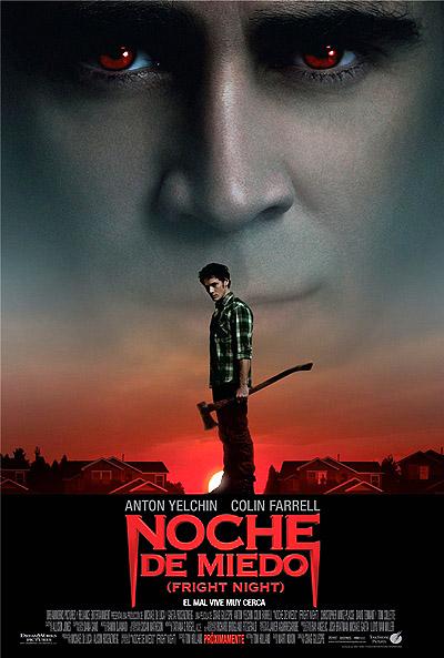 """Cartel del remake de """"Noche de miedo (Fright Night)"""" en español castellano"""