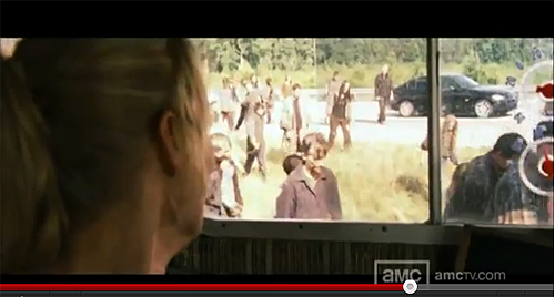 "Fotograma del nuevo vídeo avance largo de la segunda temporada de ""The Walking Dead"""