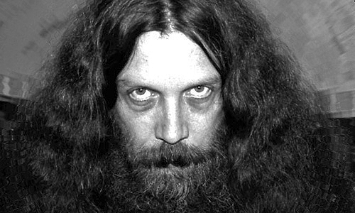 """Foto-retrato de Alan Moore. El autoproclamado """"mago del caos"""""""