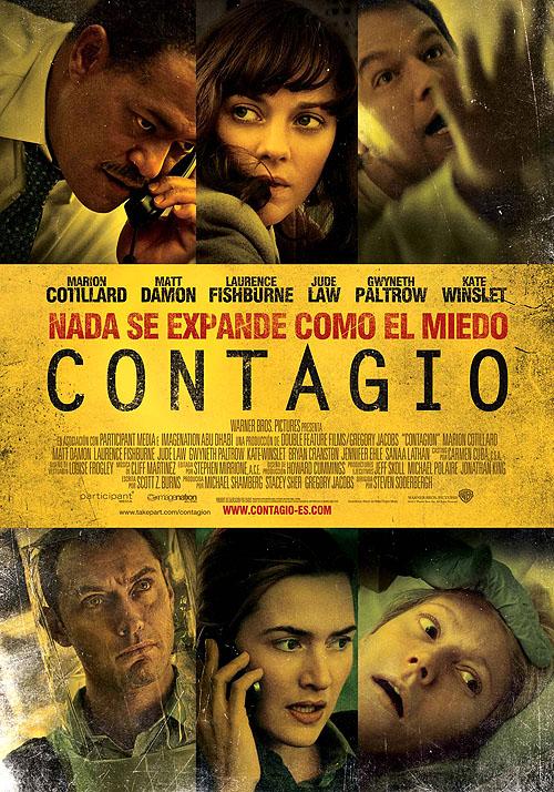 """Cartel póster de """"Contagio"""" en castellano - español"""