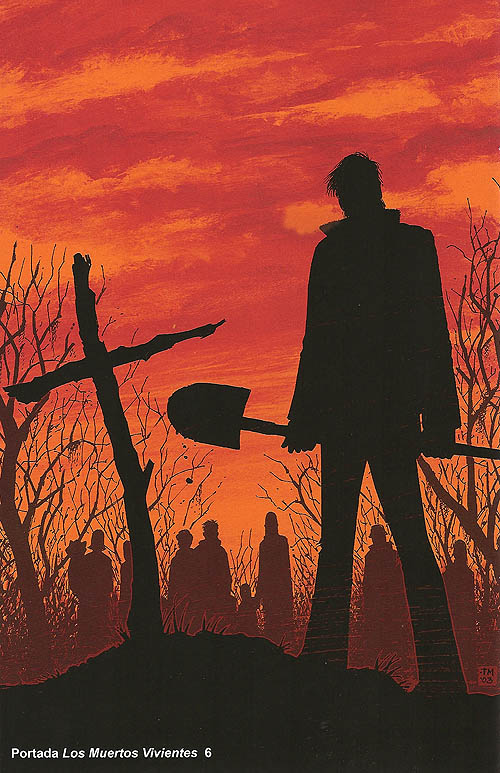 """""""The Walking Dead"""". Portada del número 6"""
