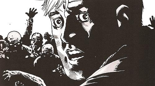 "Viñeta de ""Los muertos vivientes (The Walking Dead)"" volumen 14. ""Rebaño"" zombi"