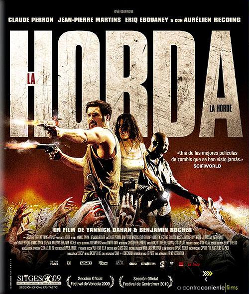 """""""La Horda (The Horde)"""". Carátula de la edición en Blu-ray"""
