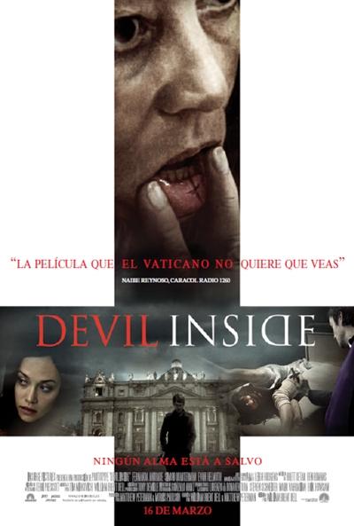 """Cartel-póster español de """"The Devil Inside"""": La película que El Vaticano que quiere que veas"""