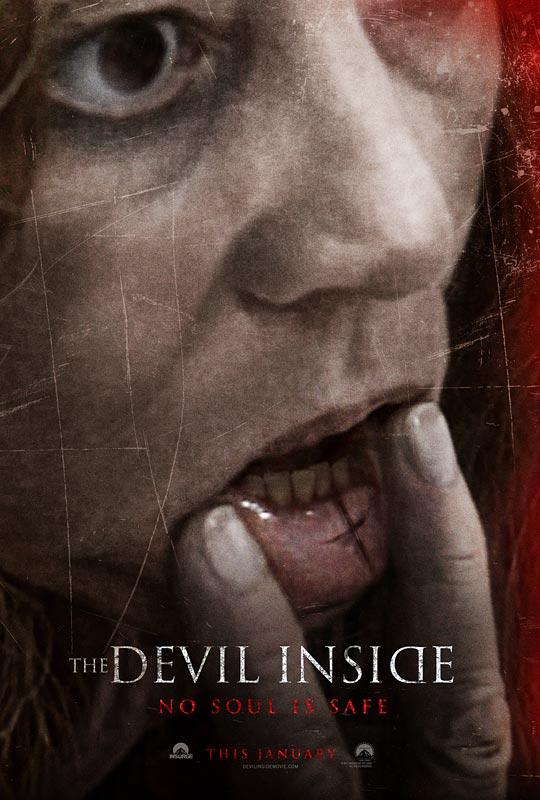 """Otro cartel-póster internacional de """"The Devil Inside"""". Y recuerda: """"Ningún alma está a salvo"""""""