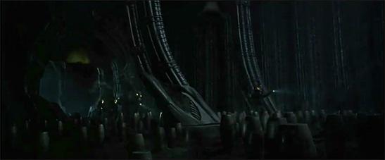 "Imágenes de ""Prometheus"" de Ridley Scott. La escenografía es muy similar a la de ""Alien"""