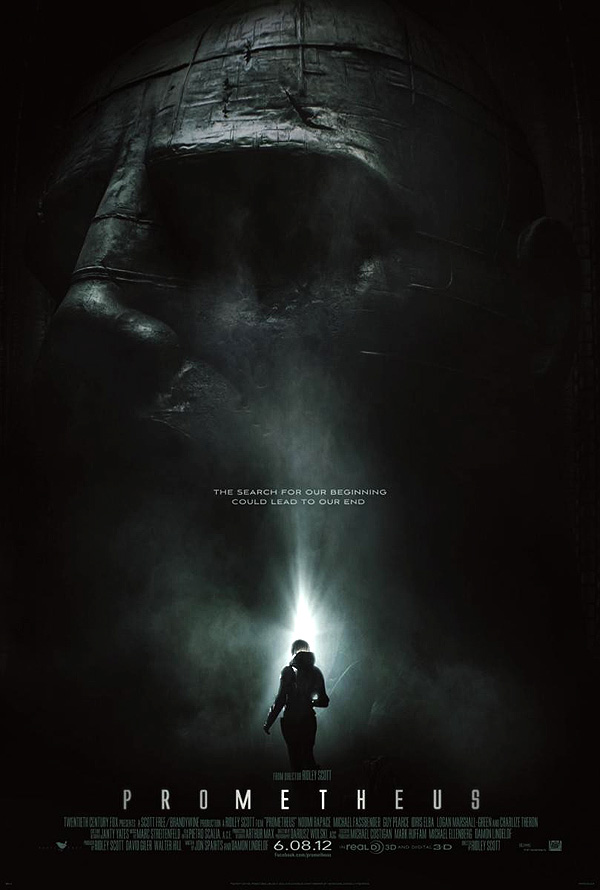 "Cartel - póster de ""Prometheus"" la esperada precuela de ""Alien"" dirigida por Ridley Scott"