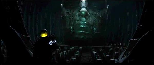 """""""Prometheus"""". Imagen del enigmático rostro monumental que aparece en el cartel"""
