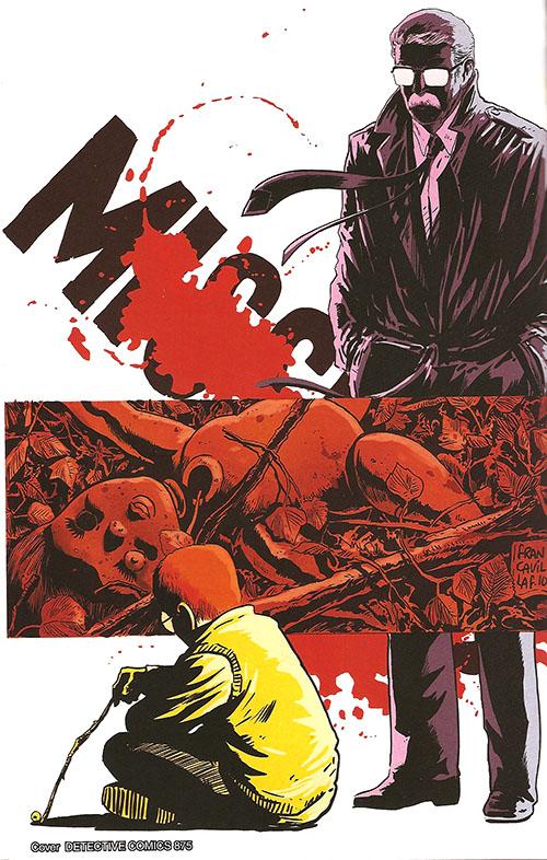 """Portada del número 875 de """"Detective Comics"""". Saga sobre el hijo psicópata de James Gordon por Scott Snyder y Francavilla"""
