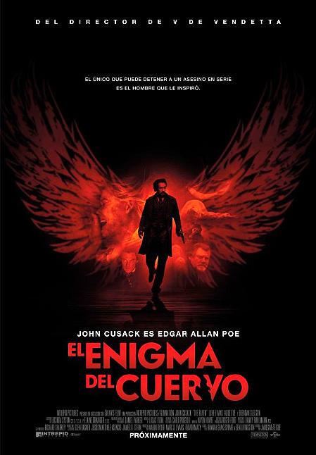 "Cartel-póster español de ""El enigma del cuervo (The Raven)"""