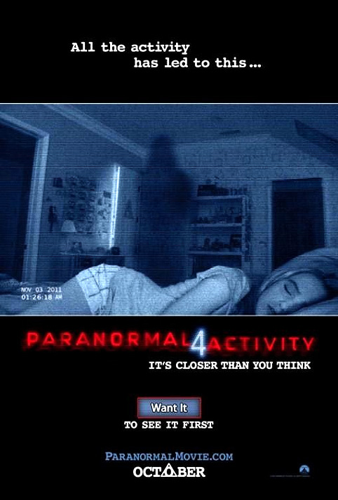 "Cartel internacional de ""Paranormal Activity 4"""