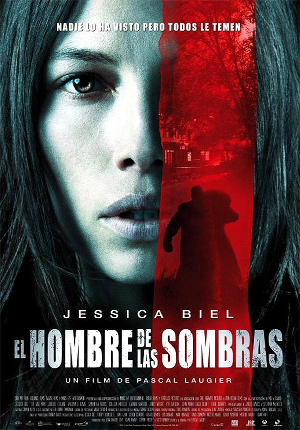 """Cartel español de """"El hombre de las sombras"""" protagonizada por Jessica Biel"""