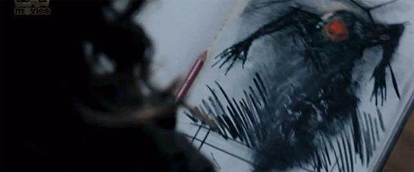"""Imagen del dibujo del monstruo de """"Insidious"""" que recuerda bastante a """"Sinister"""""""