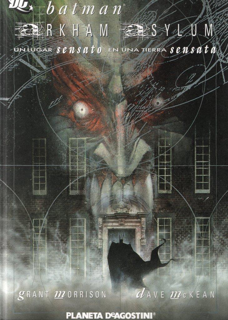 "Portada de la edición 15 aniversario de ""Arkham Asylum"". Publicada por Planeta"