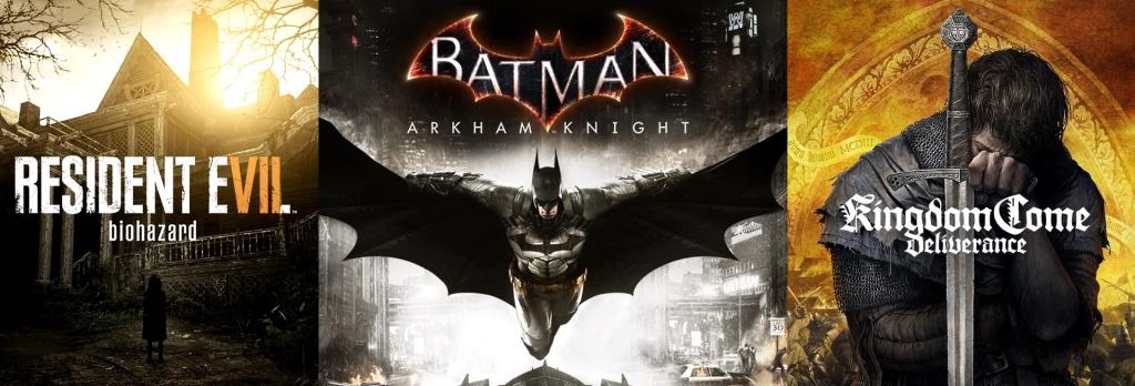 terrores.blog | Sorteos de juegos: Resident Evil 7 Biohazard, Batman: Arkham Knight y Kingdom Come: Deliverance. Del 17 al 26 de noviembre de 2020