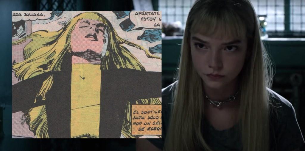 El parecido de Anya Taylor-Joy en Los Nuevos Mutantes con el personaje de Illyana Rasputín en los cómics es notable