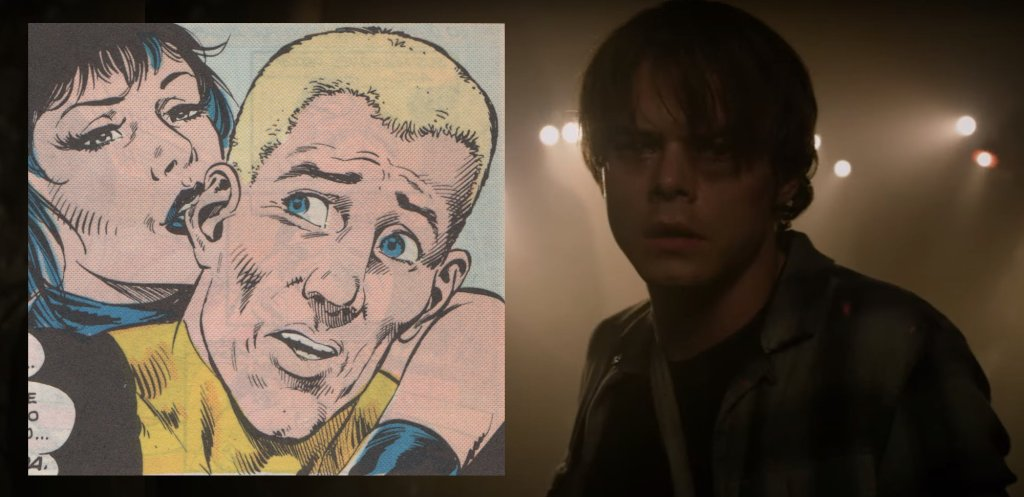 Bala de Cañón/ Sam en los cómics y en la película de Los Nuevos Mutantes. La diferencia física es notable pero su personalidad se refleja fielmente