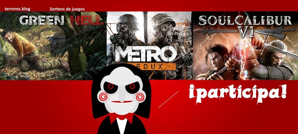 terrores.blog | Sorteos de juegos: Green Hell, Metro Redux y Soul Calibur VI. Del 11 al 19 de enero de 2021