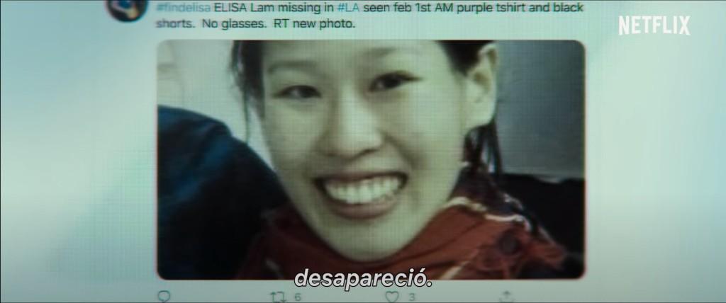 Tweet que denuncia la desaparición de Elisa Lam