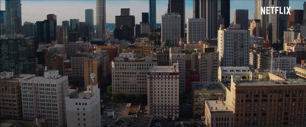 El hotel Cecil en pleno centro de Los Ángeles