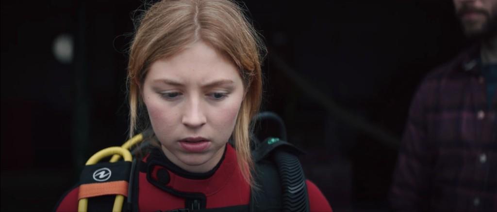 Hermione Corfield a punto de sumergirse en lo desconocido