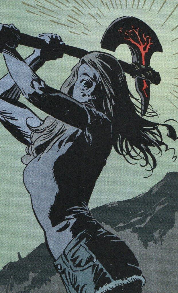 June, mujer empoderada. Punisher femenina del corrupto sueño americano. Leomacs destaca también cuando llega la hora del terror