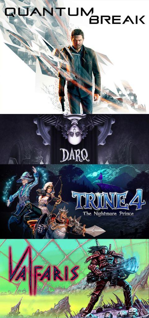 terrores.blog | Sorteos de juegos: Quantum Break, DarQ, Trine 4 y Valfaris. Del 12 al 22 de marzo de 2021