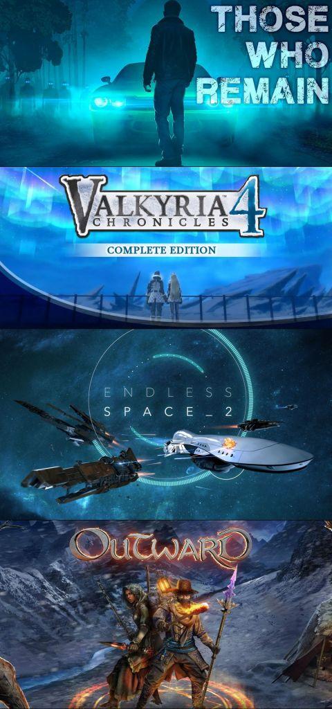 terrores.blog | Sorteos de juegos: Valkyria Chronicles Complete Edition, Those Who Remain, Endless Space 2 Digital Deluxe Edition y Outward. Del 2 al 12 de marzo de 2021