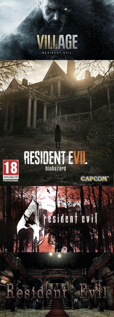 terrores.blog | Especial RESIDENT EVIL. Regalamos 4 juegos: Resident Evil Village, Resident Evil Biohazard, Resident Evil 4 Ultimate HD Edition y Resident Evil HD Remaster. Del 7 al 17 de mayo de 2021