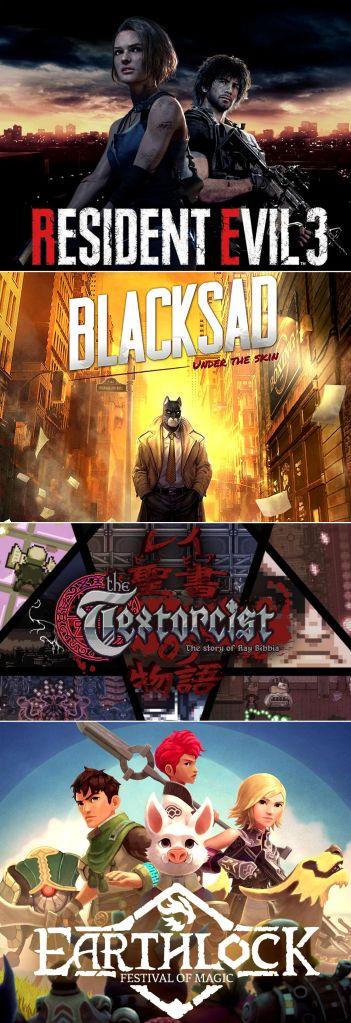 terrores.blog | Regalamos 4 juegos:Resident Evil 3 (2020),Blacksad: Under the Skin,EARTHLOCKyThe Textorcist: The Story of Ray Bibbia. Del 29 de mayo al 8 de junio de 2021