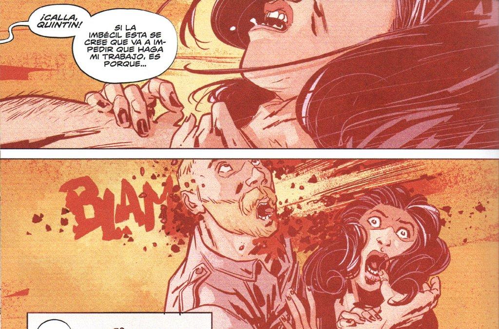 Ramón K. Pérez (dibujo) y Mike Spicer (color) transmiten al lector con maestría las escenas de violencia desatada