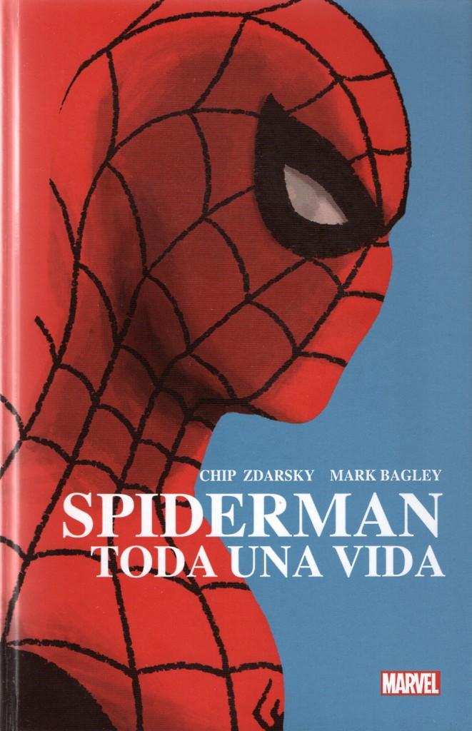 Portada de la edición española de la miniserie Spiderman: Toda una vida