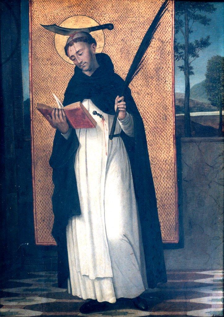 ANTONIO DE COMONTES: San Pedro de Verona (ca. 1500). Museo Lázaro Galdiano